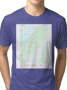 USGS TOPO Map Alaska AK Yakutat C-5 SE 353861 1987 25000 Tri-blend T-Shirt