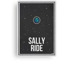 SALLY RIDE- Women in Science Wall Art Canvas Print