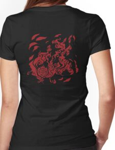 Rose petals Womens Fitted T-Shirt