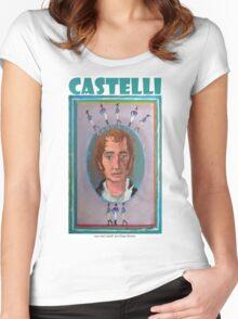 Juan José Castelli por Diego Manuel Women's Fitted Scoop T-Shirt