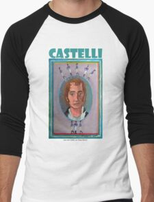 Juan José Castelli por Diego Manuel Men's Baseball ¾ T-Shirt