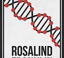 ROSALIND FRANKLIN - Women in Science Wall Art by Hydrogene