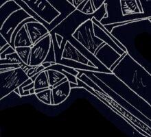 X-Wing in Black Sticker