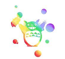 Totoro's Rainy Day (Rainbow) Photographic Print