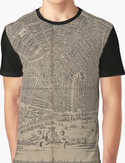Vintage Pictorial Map of Amherst MA (1886) Graphic T-Shirt