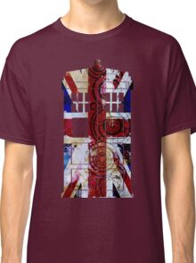Union Jack TARDIS with Gallifreyan  Classic T-Shirt