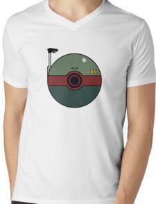 Boba Fett Pokemon Ball Mash-up Mens V-Neck T-Shirt
