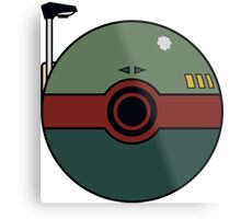 Boba Fett Pokemon Ball Mash-up Metal Print