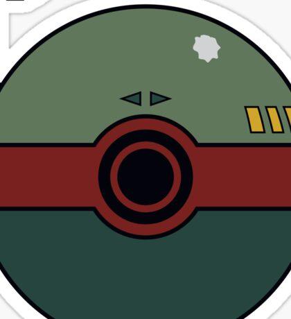 Boba Fett Pokemon Ball Mash-up Sticker