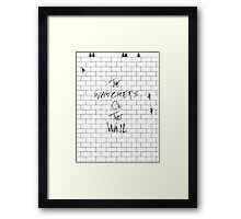 The Watchers On Pink Floyd's Wall Framed Print