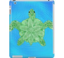 Blue Flower Turtle iPad Case/Skin