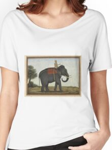 An Elephant Keeper Riding His Elephant (1825) Women's Relaxed Fit T-Shirt