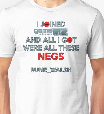 GameTZ Negs Rune_Walsh Unisex T-Shirt