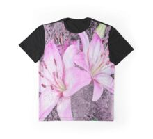 Purple Lilies Graphic T-Shirt