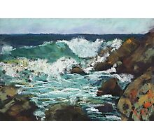 Tide coming in at Pandanus Cove - plein air Photographic Print