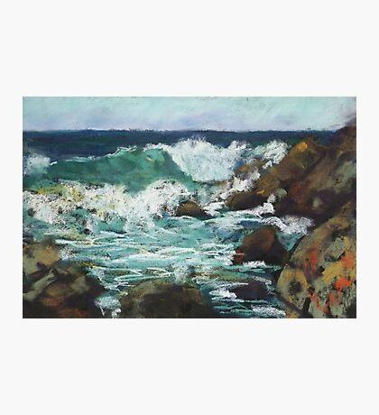 Tide coming in at Pandanus Cove - plein air Photographic Print