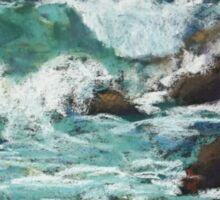 Tide coming in at Pandanus Cove - plein air Sticker