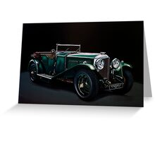 Bentley Open Tourer 1929 Painting Greeting Card