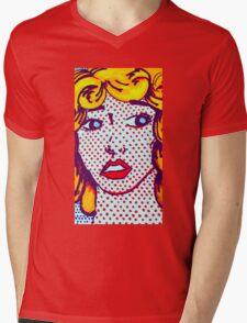 pop art girl Mens V-Neck T-Shirt