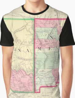 Vintage Map of Arizona and New Mexico (1867) Graphic T-Shirt