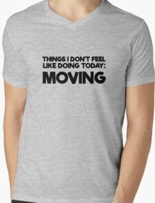 Lazy Quote Funny Random Humor Morning Mens V-Neck T-Shirt