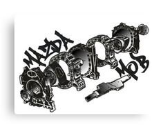 Mazda MOB Engine Layout Canvas Print