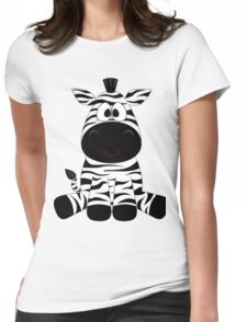Cute big teddy zebra,children toy,kid,kids,fun,happy,modern,trendy Womens Fitted T-Shirt