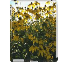 Backlit Yellow Flowers iPad Case/Skin