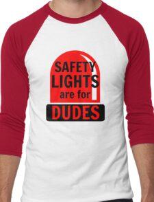 Safety Lights Are For Dudes Men's Baseball ¾ T-Shirt