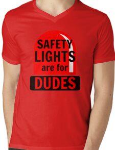 Safety Lights Are For Dudes Mens V-Neck T-Shirt