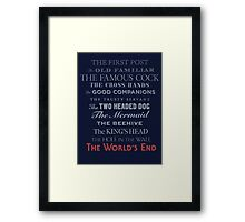 The World's End Framed Print