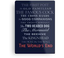 The World's End Metal Print