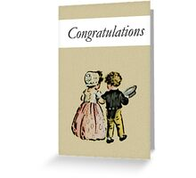 Congrats Engagement or Wedding Card (Boy and Girl in Love) Greeting Card