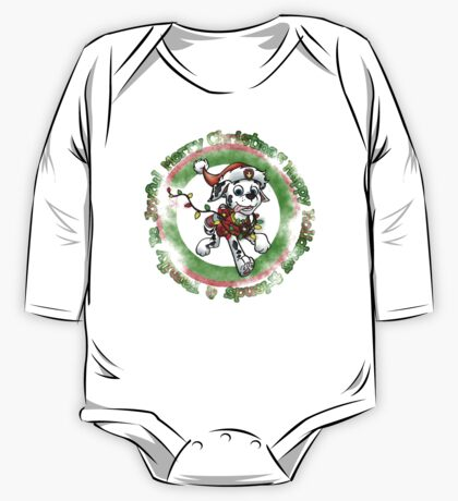 Christmas Dolmation One Piece - Long Sleeve
