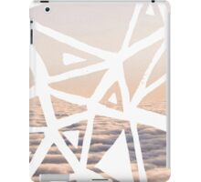 Geometric lino cut printed pattern in combination with photography, nature inspired iPad Case/Skin