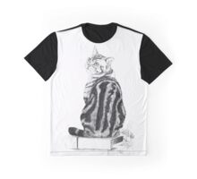 Silver Tabby Sketch Graphic T-Shirt