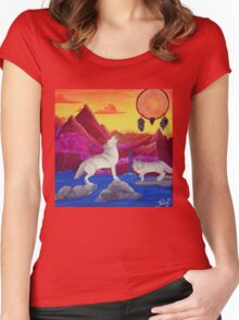 Perfect Dream Acrylic Artwork Women's Fitted Scoop T-Shirt