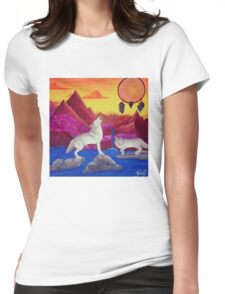 Perfect Dream Acrylic Artwork Womens Fitted T-Shirt