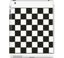 Black and White Checkers Board iPad Case/Skin