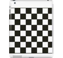 Black and White Checkers Board iPad Case/Skin