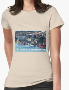 St. John's Newfoundland town and harbor Womens Fitted T-Shirt