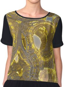 Golden Abstraction Chiffon Top