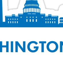 Washington DC Capital Shirt Sticker