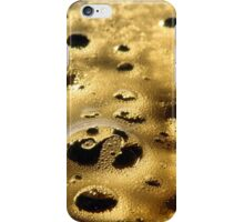 Bubbles Golden Sunset baked frothy Foam iPhone Case/Skin
