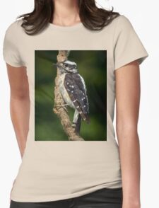 Downy Woodpecker Womens Fitted T-Shirt