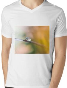 Teardrop on Feather Mens V-Neck T-Shirt