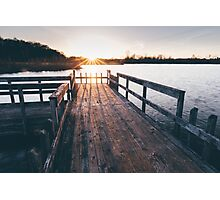 Dock Sunset Photographic Print