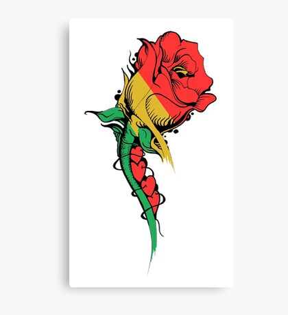 4 Roses - Rasta Love - by Mike Jack / Massive Ink Canvas Print
