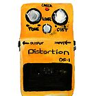 Boss DS-1 Distortion Pedal Acrylic Painting White Edited Canvas Board by JamesPeart