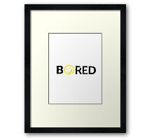 Sherlock - BORED Framed Print